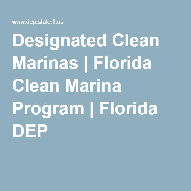 Designated Clean Marinas | Florida Clean Marina Program | Florida DEP