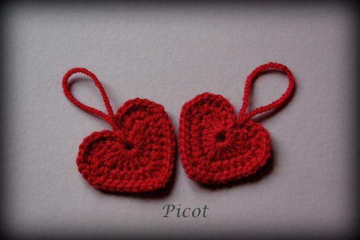 Picot - Szydełkowe Inspiracje: Czerwone serduszka