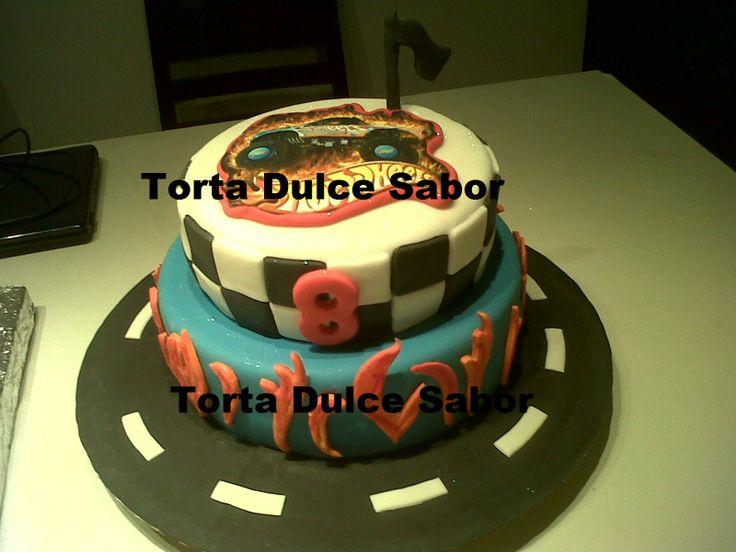 Torta de Hot Wheels.