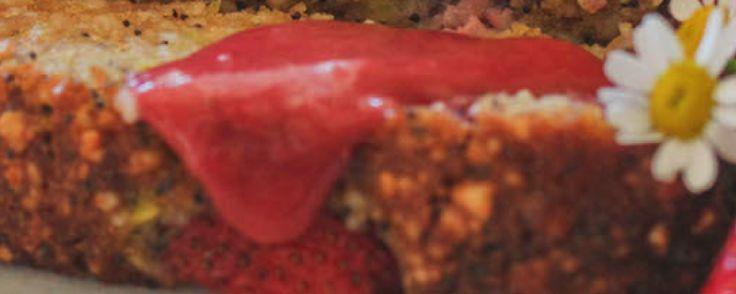 Glutenvrij aardbei- maanzaadbrood