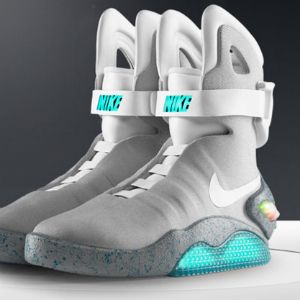 Nike unveiled their new Marty McFly shoes from Back to the Future II... I'd never wear them, but I love that they exist!
