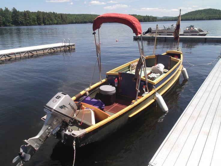 Custom 2006 Scott Hudson Bay 21ft Freighter Canoe river camper, 8hp Honda 4 stroke motor | Boat ...