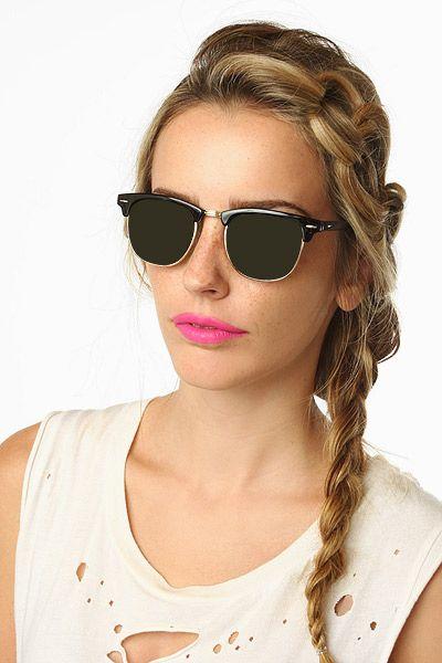 clubmaster tortoise  'Memphis' Unisex Polarized Clubmaster Sunglasses