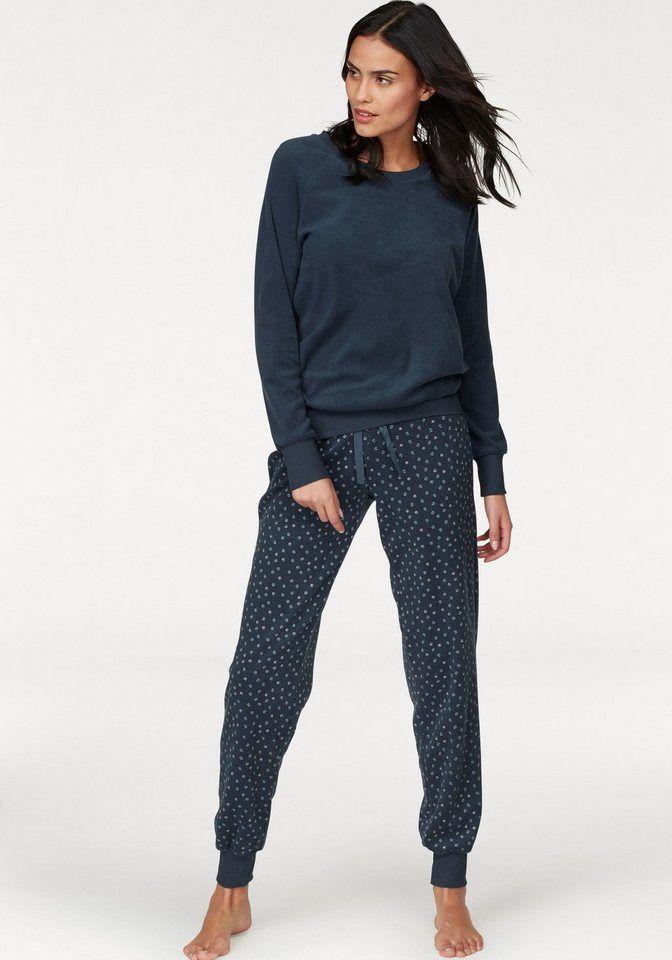 neuer & gebrauchter designer viele möglichkeiten anders Schiesser Pyjama aus Frottee mit gemusterter Hose   Fashion ...