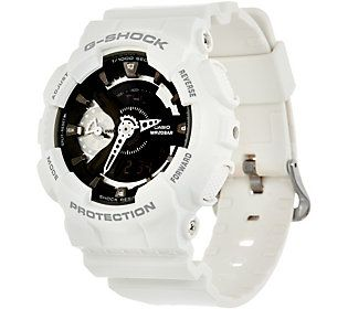 G-Shock Women's Analog Digital Black on White Resin Watch