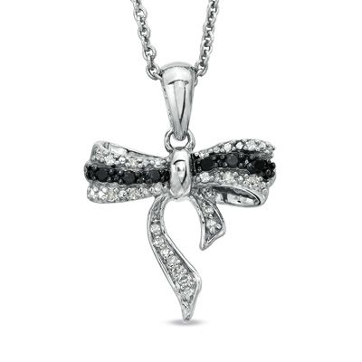 Zales Enhanced Black and White Diamond Accent Fox Pendant in Sterling Silver and 14K Gold GzPvjiBL5p
