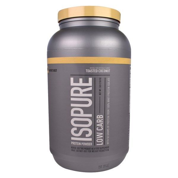 Nature's Best, Iso Pure, Isopure Protein Powder, Low Carb, Toasted Coconut, 3 lb (1361 g)