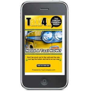 Taxi Mobile Landing Page    TapToCall    What makes our Tap-to-Call Mobile Marketing Landing Pages special is the ability to allow mobile web visitors to tap a link that dials YOUR phone number straight from your Mobile Markeing Landing Page! Thats what we call Immediate Response.