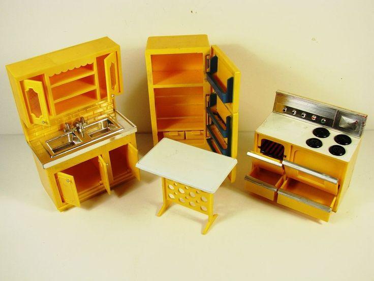 dollhouse furniture cheap. 1973 Little Hostess Doll House Kitchen Set Or. Package Dollhouse Furniture Cheap