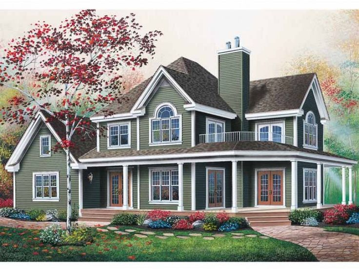 canadian corner lot farmhouse country house plans home designs country home plans with wrap around porches - 2 Story Country House Plans