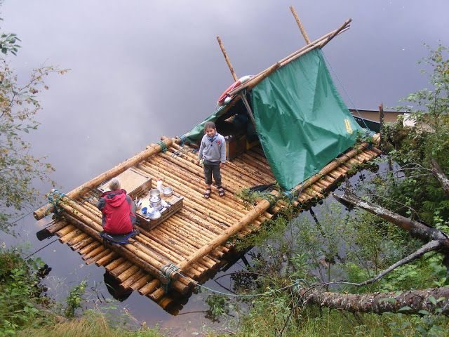 Timber Raft + canoe down the Klaralven Sweden