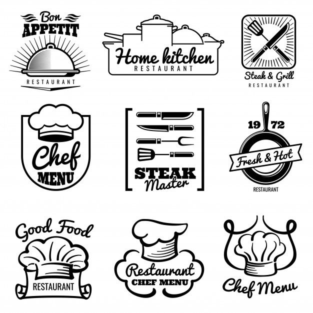 Restaurant Vector Vintage Logo Chef Ret Premium Vector Freepik Vector Logo Food Business Vintage In 2020 Chef Logo Logo Restaurant Logo Design Kitchen