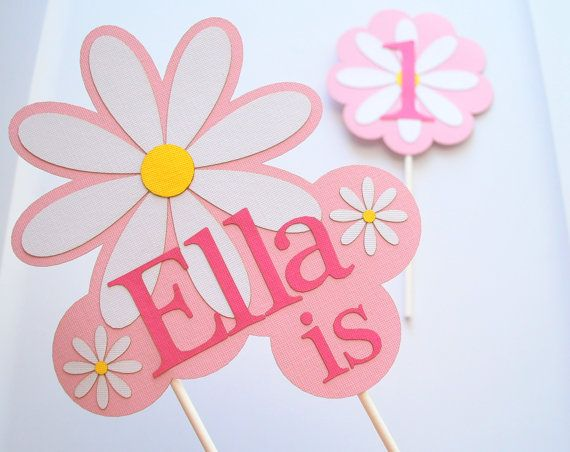 Daisy party centerpiece Girl Birthday party by Mariapalito on Etsy
