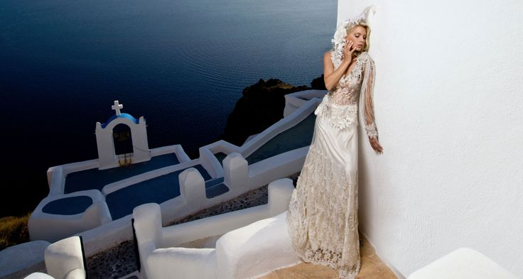 magic view of Santorini: Galleries, Wedding Dressses, White Wedding Dresses, Atelier Zolota, Magic View, White Weddings, Destinations Wedding, Satin Wedding Dresses, Destination Weddings