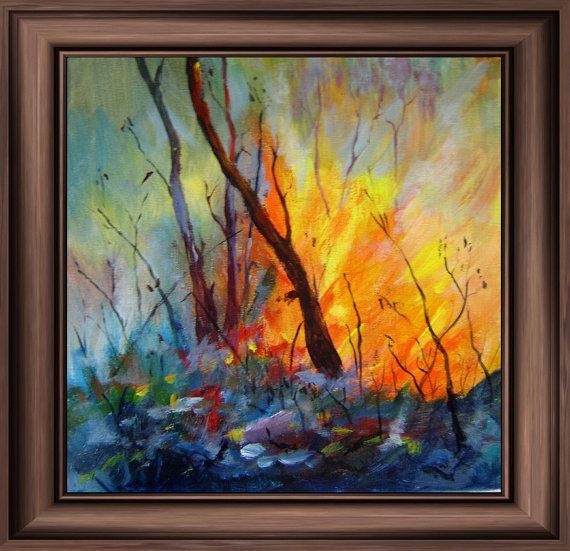 Art Print 'Bush Fire 1' by tervern on Etsy, $30.00