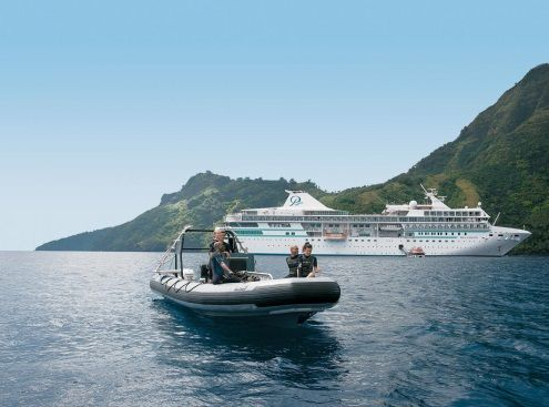 Every voyage with Paul Gauguin Cruises features optional SCUBA diving excursions led by an expert dive team. The Gauguin is the only luxury small ship in the region to offer PADI certification on board, as well as refresher courses. https://www.pgcruises.com/ms-paul-gauguin/diving/?ra_ref=pg1553