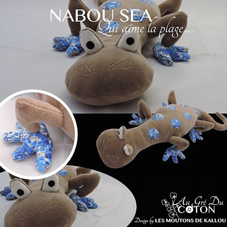 Nabou Sea Adopté  Avril 2015 Patron : Les Moutons de Kallou Tissus : Jersey de coton café et coton à motifs beige et bleu