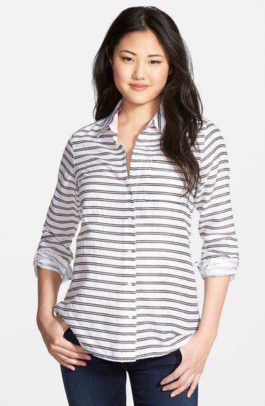 Check out my latest find from Nordstrom: http://shop.nordstrom.com/S/3992110  Foxcroft Foxcroft Horizontal Satin Stripe Roll Sleeve Shirt (Regular & Petite)  - Sent from the Nordstrom app on my iPhone (Get it free on the App Store at http://itunes.apple.com/us/app/nordstrom/id474349412?ls=1&mt=8)