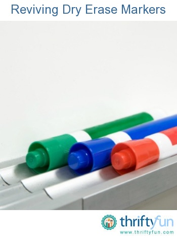 This is a guide about reviving dry erase markers. You might be able to extend the life of that dry erase marker.