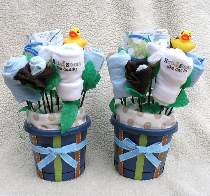 Baby Bouquets for Twin Boys Unique Gift Baby by
