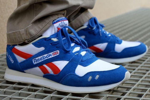 reebok shoes white blue