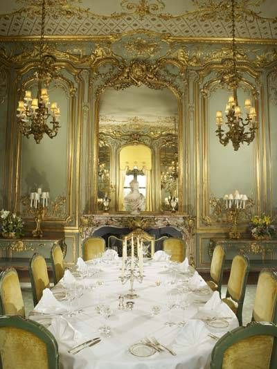 Lord Astor saw this dining room in France, bought it and had it shipped and reassembled at his English Country House, Clivedon. Today you can stay there and dine luxuriously yourself.