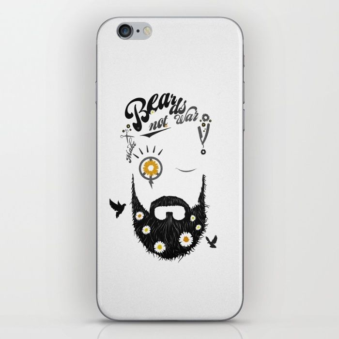 Make Beards not War (typo edition) iPhone & iPod Skin by Steffen Remter ©2016 ✿ WORLDWIDE SHIPPING available at ➤ https://society6.com/product/make-beards-not-war-typo-edition_print and ➤ http://www.redbubble.com/people/balticlapse ▄▄ #artprint   #canvas #tshirt #leggings #skirt #scarf #mobile #iphone #iPad #ipod #laptop #duvet #case #cover #skin #mug #rug #curtain #pouch #clutch #notebook #towel