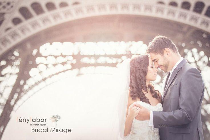 Párizs a szerelem városa ( Bridal Mirage fátyollal)