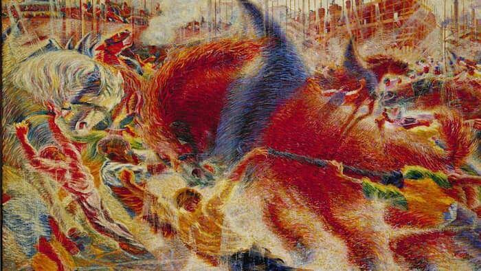 """Umberto Boccioni - """"La città che sale"""" (1910)"""
