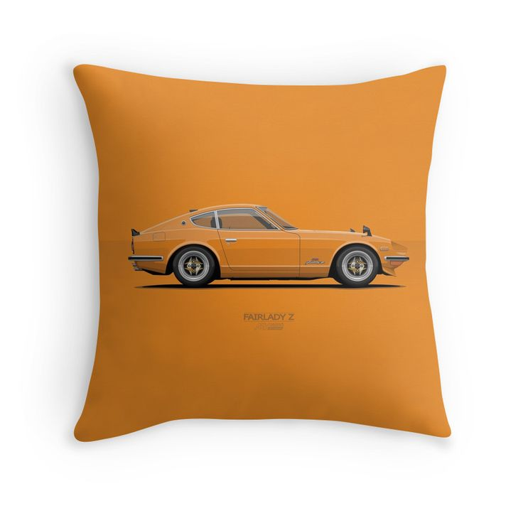 Fairlady 240z Orange  #redbubble #nissan #nissanfairlady #ARVwerks #apparel #merchandise #carart #art #automotive #z432 #jdm #japan #ssr #throwpillow