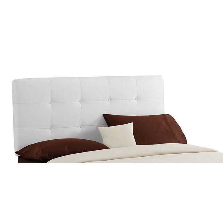 Skyline Micro-Suede Tufted Headboard - California King - White