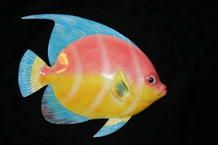 "(1), 12"", BEAUTIFUL TROPICAL FISH, HUGE,FISH DECOR, AQUARIUM DECOR,AQUARIUM F-82 #TROPICALFISHWALLDECOR"