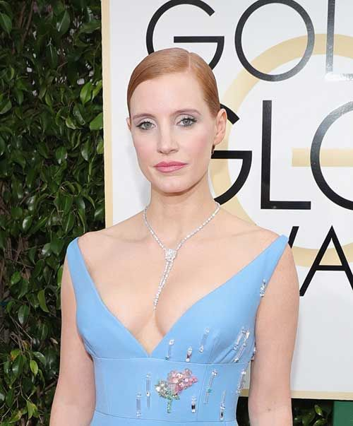 Celebs with Short Hair at the Golden Globes 2017: #13. Jessica Chastain