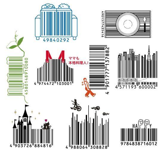 Japanese barcodesJapan Barcode, Barcode Design, Inspiration, Codes Barre, S'Mores Bar, Japanese Barcode, Graphics Design, Bar Codes, Design Barcode