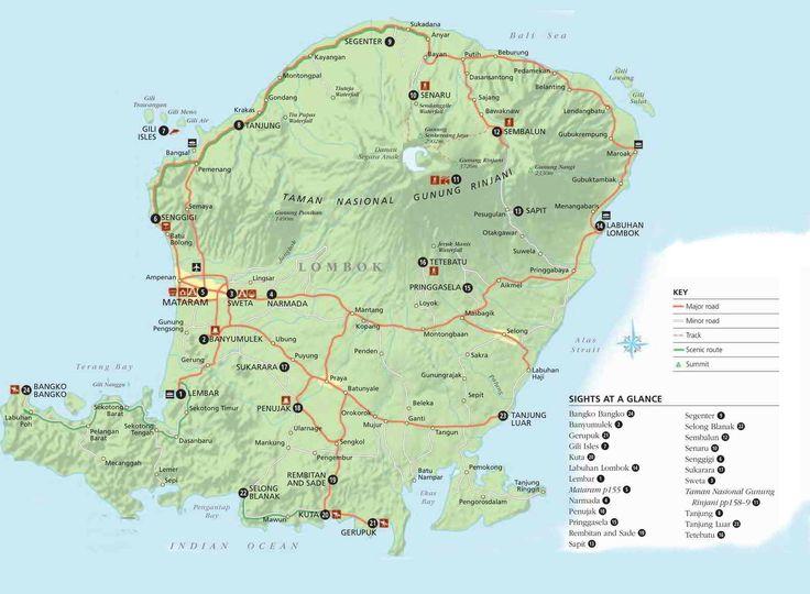 Map: Lombok - Infiniti Adventures - Indonesia