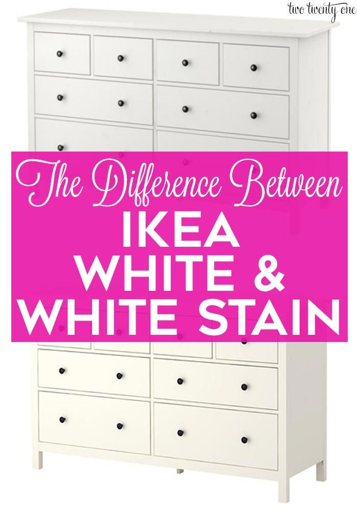 Difference Between Ikea White And Ikea White Stain White Stained Dresser White Stain Low Profile Bed Frame