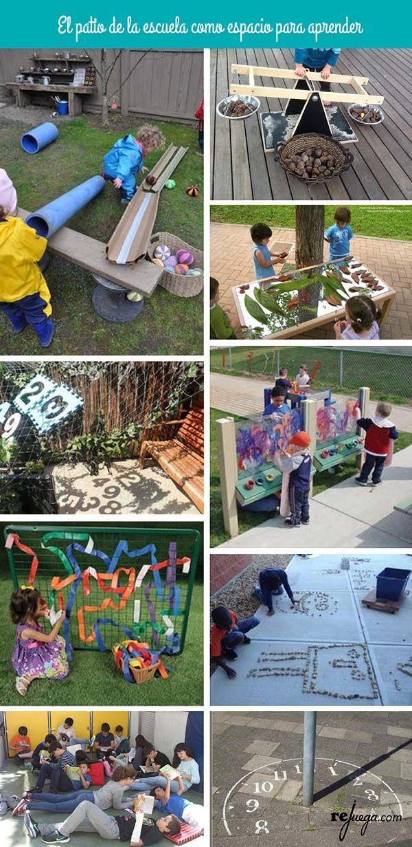 ideas para aprender jugando en el patio de la escuela