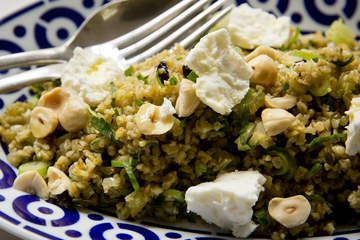 Freekeh salad with persian fetta
