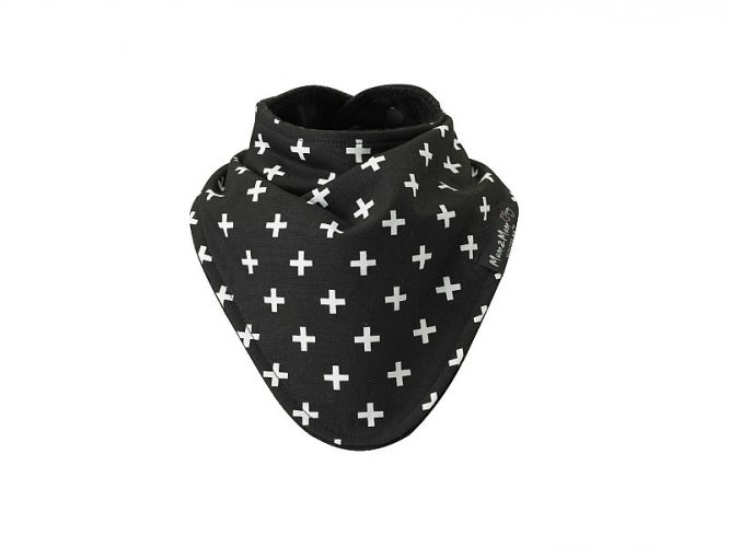 """Black Plus"" Fashion Bandana Wonder Bib - only at Mum 2 Mum! Super absorbent cotton towelling, fun cotton print and in between - a waterproof layer! These bibs are reversible, waterproof AND gorgeous!  Suitable for 4 months to 3 years"
