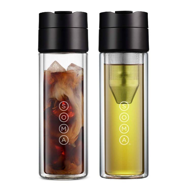 Amazon.com | Soma Double Wall Glass Tea and Coffee Cold ...
