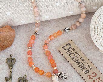 108 mala beads necklace, pink turmaline, rose quartz, jade, agate semi precious stones, silver charms, yoga gift, meditation, present
