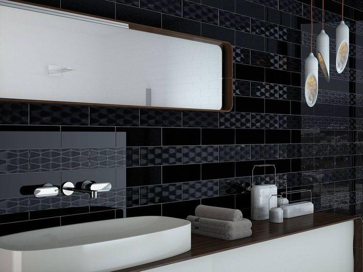 #Soho es una de nuestras colecciones más atemporales. Además, en este baño 🛁 se combina la versión relieve y el resultado nos parece espectacular.