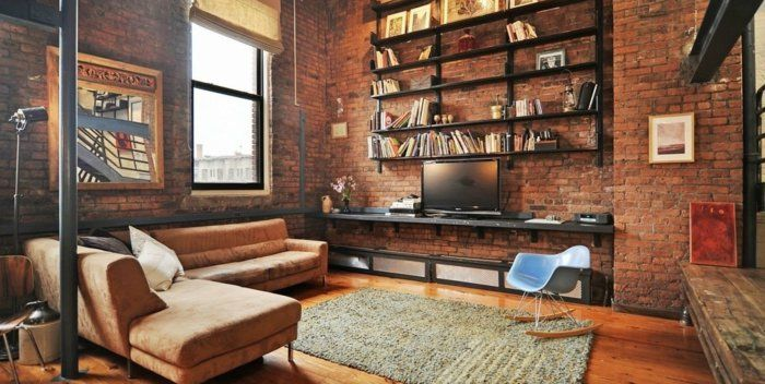Salon deco loft new yorkais