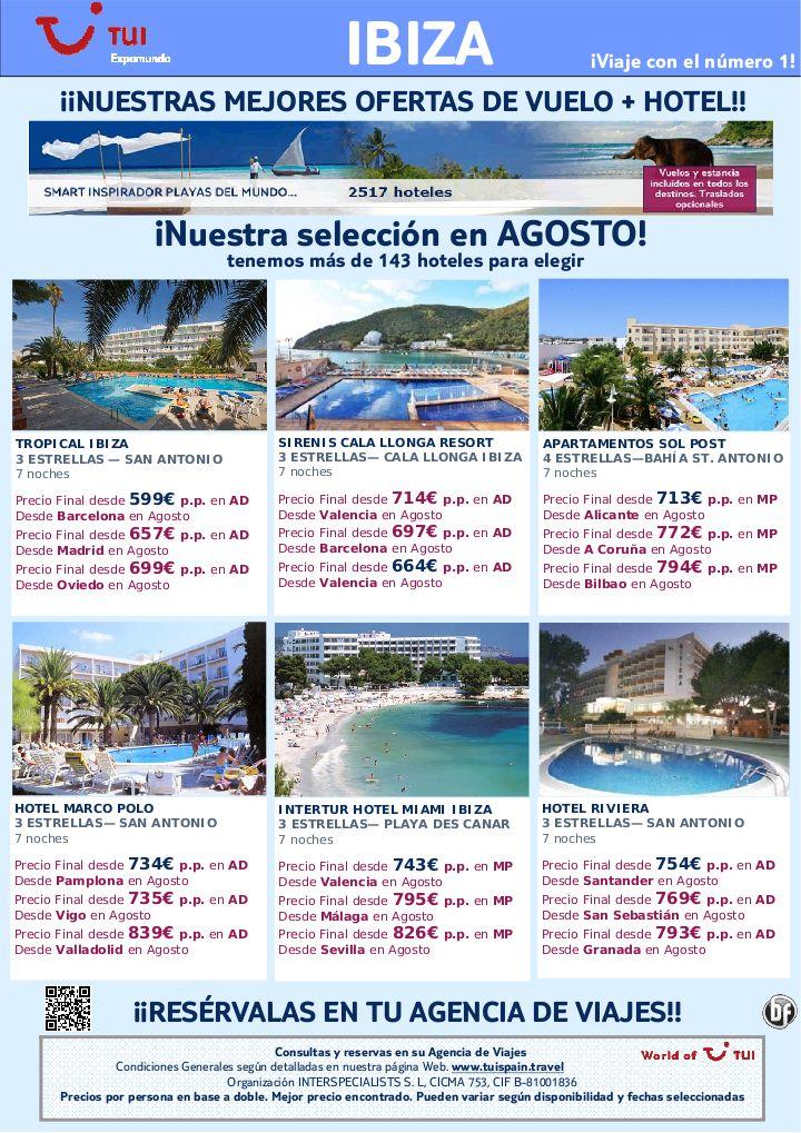 ¡Nuestras mejores ofertas! vuelo + hotel en IBIZA salidas en Agosto. Precio final desde 599€ - http://zocotours.com/nuestras-mejores-ofertas-vuelo-hotel-en-ibiza-salidas-en-agosto-precio-final-desde-599e/