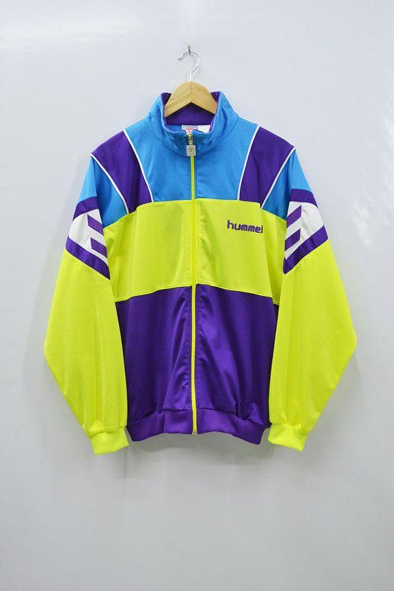 Hummel Jacket Men Size L 90s Hummel Vintage Colorblock