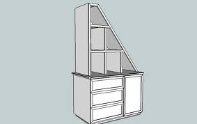 attic closet shelving idea for end of closet. This link has lots of other great ideas.