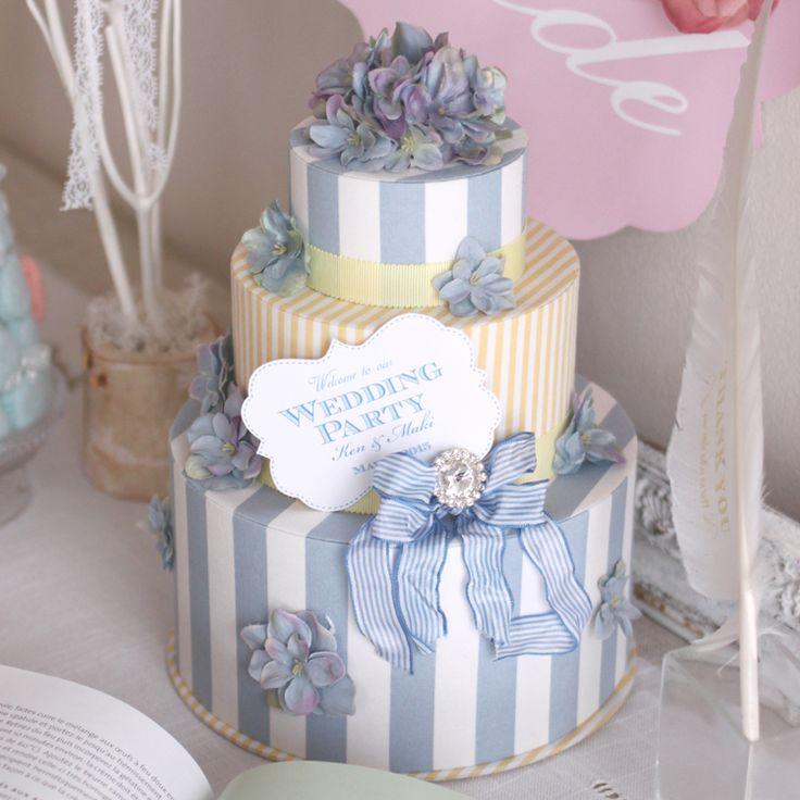 「花嫁さんが幸せになる♪」サムシングブルーのウェルカムボード。