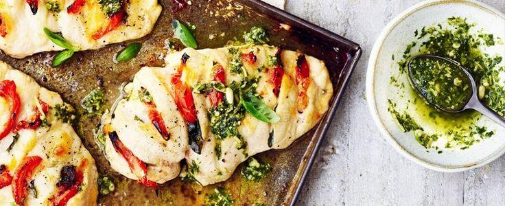 Hasselback chicken tray bake