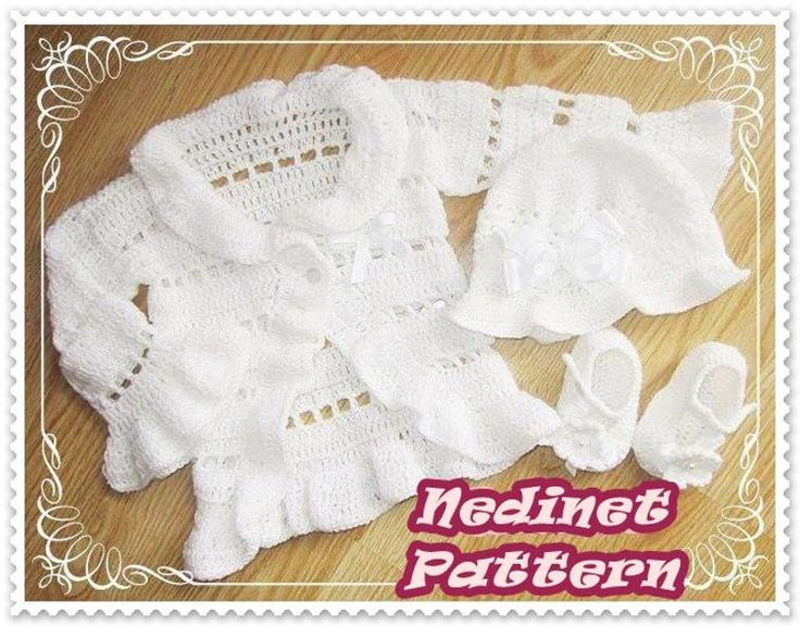 Crochet PATTERN, hat cardigan and shoes 0-12 m   Craftsy