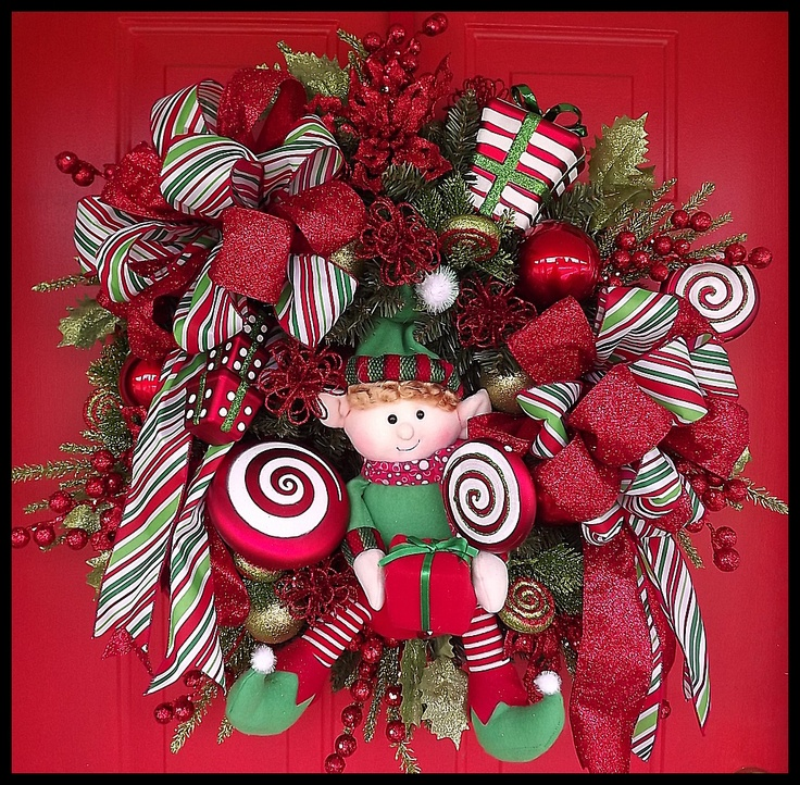 27 best Christmas Wreaths images on Pinterest Holiday wreaths - christmas wreath decorations